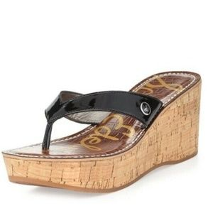 SAM EDELMAN Romy Wedge Thong Sandal